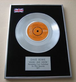 DAVID BOWIE - SOUND AND VISION PLATINUM Single Presentation DISC